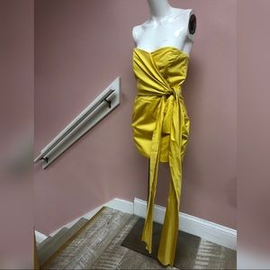French Connection Yellow Mini Tube Dress